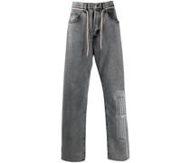 Straight-Leg-Jeans mit Kordelzug