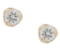 14kt Gelbgoldohrstecker mit Diamanten