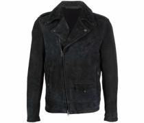 zip-up sheepskin jacket