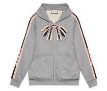 stripe zip up sweatshirt