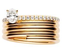 18kt 'Blast' Rotgoldring mit Diamanten