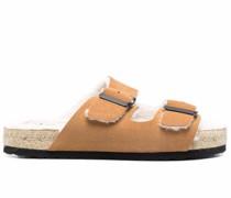 Sandalen mit Shearling-Futter