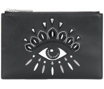 Eye detail clutch bag