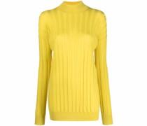 Gerippter Pullover mit Stehkragen