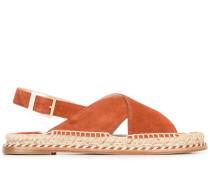 Sandalen mit geflochtenem Detail - women
