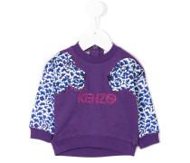 Jungle Cat appliqué sweatshirt