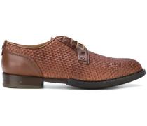 Derby-Schuhe mit Flechtmuster