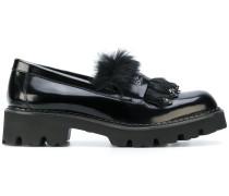Loafer mit Felldetails