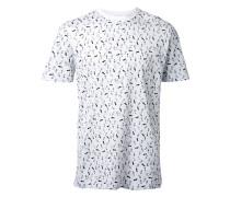 T-Shirt mit Fußstapfen-Print