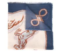 'Western' Schal mit Pferde-Prints