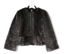 Teen faux fur bomber jacket