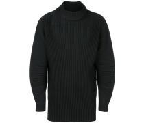 pleated longline sweater
