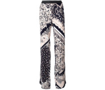 elasticated waistband printed trousers