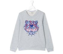 tiger sweatshirt - kids - Baumwolle - 16 yrs