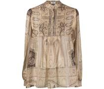 paisley-print buttoned shirt