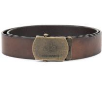 logo embossed belt