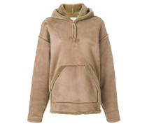 dropped shoulder hooded jumper
