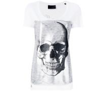 T-Shirt mit Totenkopf-Print - women - Baumwolle