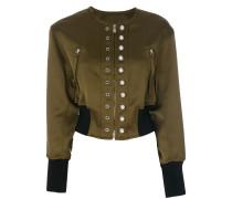 Cropped-Jacke mit Kunstperlenverzierung