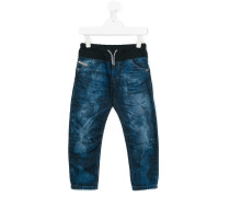 Jeans mit Kordelzug - kids - Baumwolle - 10 J.