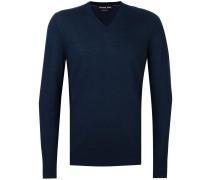 - Pullover mit V-Ausschnitt - men - Merinowolle