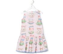 Kleid mit Teetassen-Print - kids - Baumwolle