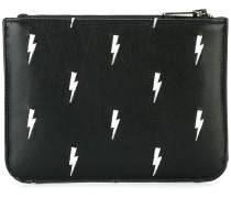 Portemonnaie mit Blitz-Print - men - Leder