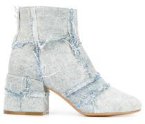 Jeans-Stiefeletten mit Fransen - women
