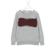 Wollpullover mit Farb-Print