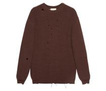 Oversized-Pullover in Distressed-Optik