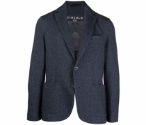tailored herringbone-pattern blazer