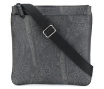 paisley-print messenger bag