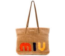 'My Miu' Handtasche mit Shearling-Besatz