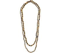 Lange Steinperlen-Halskette