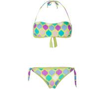 checkered bandeau bikini
