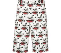 Shorts mit Lippen-Print - men - Polyester - L