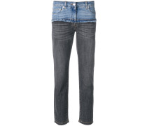 Cropped-Jeans im Deconstructed-Look