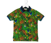 forest print polo shirt