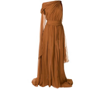 Drapiertes One-Shoulder-Kleid
