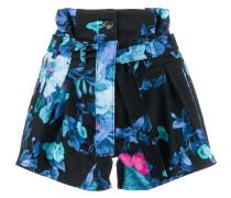 Taillenhohe Shorts mit Blumen-Print