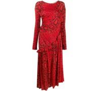 'Naima' Kleid mit Pythonleder-Print