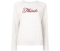 'Think' Sweatshirt mit Stickerei