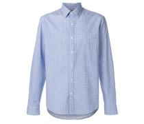 micro dot-print shirt
