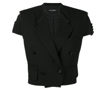 cropped short sleeve jacket