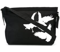 Schultertasche mit Vogel-Print