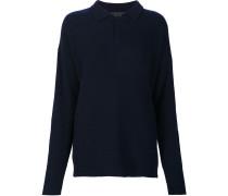 Kaschmir-Pullover mit kurzer Knopfleiste