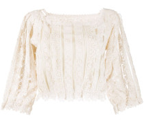 Cropped-Top aus Spitze