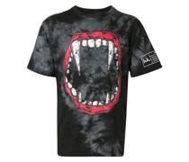 T-Shirt mit Vampirzähne-Print