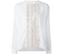Bluse mit gerüschtem Latz - women - Baumwolle