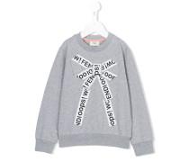 Sweatshirt mit Schleifenverzierung